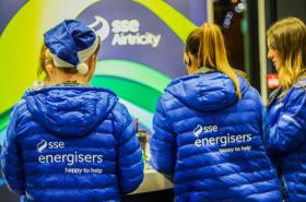 Image taken in the SSE Arena, Belfast at the Rewards Desk. Eventsec staff conducting the role of Energisers.